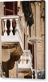 Acrylic Print featuring the photograph Famagusta Balconies by Jeremy Voisey