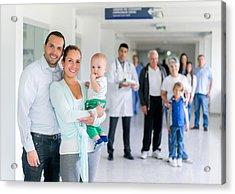 Family At The Hospital Acrylic Print by Andresr