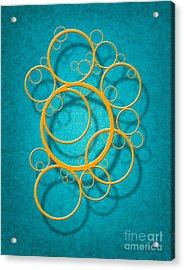 Family Circles Acrylic Print by Cristophers Dream Artistry