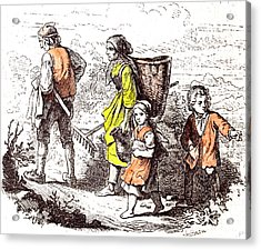 Family Coming Back From The Field 1855 Woman Man Mother Acrylic Print