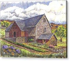 A Scottish Farm  Acrylic Print by Carol Wisniewski