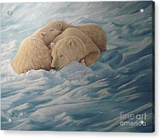 Family Acrylic Print by Gilles Delage