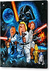 Family Guy Star Wars Acrylic Print