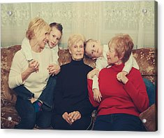 Family Acrylic Print by Laurie Search