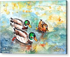 Family Life On Lake Constance Acrylic Print by Miki De Goodaboom