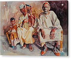 Family Acrylic Print by Mohamed Fadul
