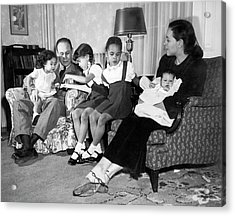 Family Of Charles Drew Acrylic Print by National Library Of Medicine