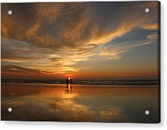 Family Reflections At Sunset - 2 Acrylic Print