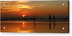 Family Reflections At Sunset - 5 Acrylic Print