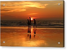 Family Reflections At Sunset - 1 Acrylic Print