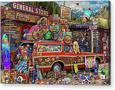 Acrylic Print featuring the drawing Family Vacation by Aimee Stewart