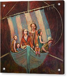 Family Vessel Acrylic Print by Jennifer Croom
