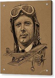 Famous Aviators Charles Lindbergh Acrylic Print