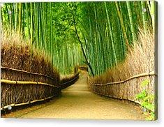 Famous Bamboo Grove At Arashiyama Acrylic Print
