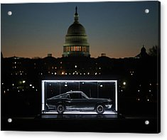 Famous Bullitt Mustang On Display On Acrylic Print by Mark Wilson