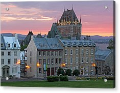 Famous Chateau Frontenac In Quebec City Acrylic Print by Juergen Roth