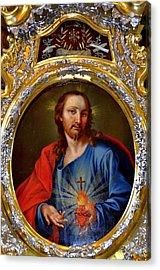 Famous Herz-jesu-bild In Jesuitenkirche In Innsbruck Acrylic Print