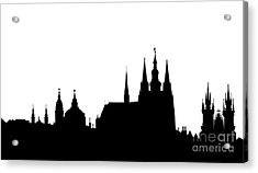 famous landmarks of Prague Acrylic Print by Michal Boubin