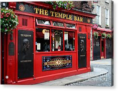 Famous Temple Bar In Dublin Acrylic Print