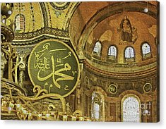 Famous The Hagia Sophia Acrylic Print by Dragomir Nikolov