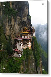 Famous Tigers Nest Monastery Of Bhutan Acrylic Print