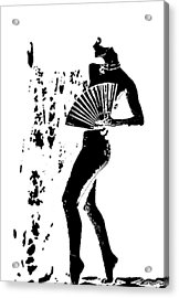 Fan Dancer Acrylic Print
