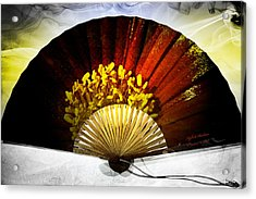 Fan Acrylic Print by Itzhak Richter