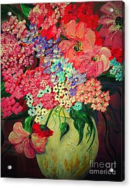 Fanciful Flowers Acrylic Print