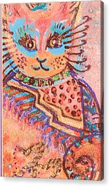 Fancy Cat Acrylic Print by Anne-Elizabeth Whiteway