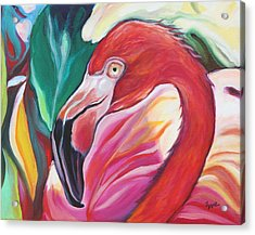Fancy Flamingo Acrylic Print