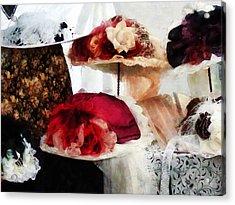 Fancy Hats Acrylic Print by Susan Savad