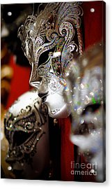 Fancy Masks For Masquerade Ball Acrylic Print by Amy Cicconi
