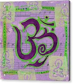 Fancy Om Whisper Buddhas Acrylic Print