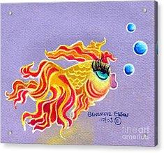 Fancytail Goldfish Acrylic Print by Genevieve Esson