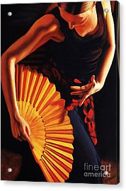 Acrylic Print featuring the painting Fandango by Janet McDonald