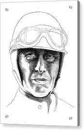 Fangio Acrylic Print by Diane Fine