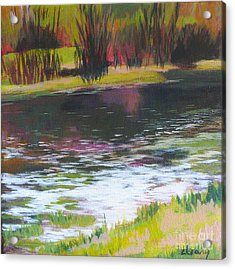 Fanno Creek Beaverton Acrylic Print by Melody Cleary