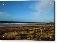 Fanore Beach Acrylic Print by Peter Skelton