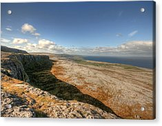 Fanore Village View Acrylic Print by John Quinn