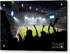 Fans Celebrating Goal Acrylic Print by Michal Bednarek