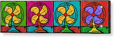 Fans In A Row Acrylic Print by Dale Moses