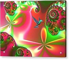 Fantasia Landscape Acrylic Print by Sharon Lisa Clarke