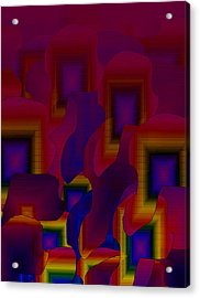 Acrylic Print featuring the digital art Fantastic Fade by Gayle Price Thomas