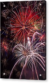 Fantastic Fireworks Acrylic Print by Garry Gay
