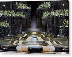 Fantastic Fountain Acrylic Print by Glenn DiPaola