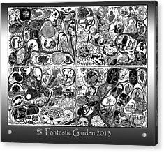 Fantastic Garden 2013 Acrylic Print by Maria Arango Diener