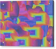 Acrylic Print featuring the digital art Fantastic Less Intense by Gayle Price Thomas