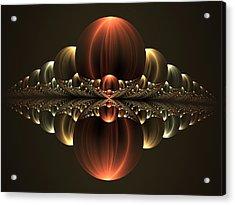 Acrylic Print featuring the digital art Fantastic Skyline by Gabiw Art