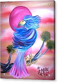 Acrylic Print featuring the painting Fantasy Bird by The GYPSY And DEBBIE