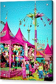 Acrylic Print featuring the digital art Fantasy Fair by Jennie Breeze